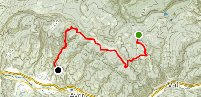 Red & Mountain Road Map
