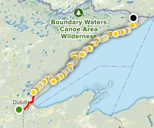 Superior Hiking Trail (Entire Route) Map
