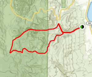 Hodges Canyon to Richardson Canyon Loop Map