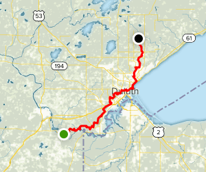 Superior Hiking Trail: Section 1 Map