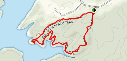 Soldier's Beach Trail at Meadow Park Lake Map