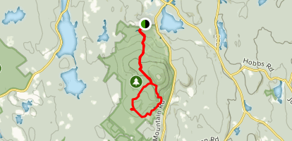 Bolton Pond to Harrington to Echo Lake to Jack Frost Loop Map