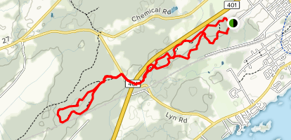 Black and Decker Mountain Bike Trails Map