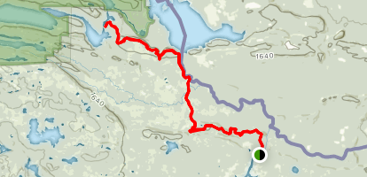 Border Route Trail  Map