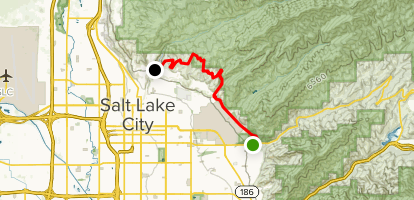 Bonneville Shoreline Trail: Emigration Canyon Road to City Creek Map