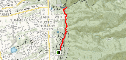East Mountain Wilderness Park to Adam's Canyon Map