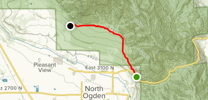 Bonneville Shoreline Trail: North Ogden Canyon Road to West 4600 North Map