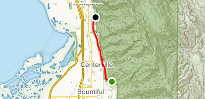 Bonneville Shoreline Trail North from Skyline Drive Map