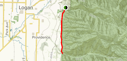 Bonneville Shoreline Trail: Mountain Road to Spring Creek Map
