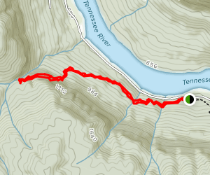 Blowing Wind Falls via Richie Hollow Trail  Map