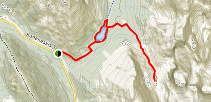 Elbow Lake and Rae Glacier Map