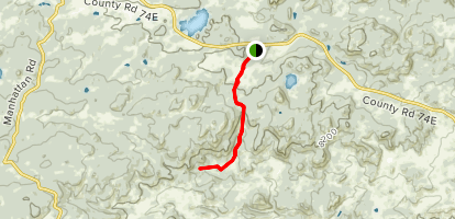 Disappointment Falls via Lady Moon Trail Map