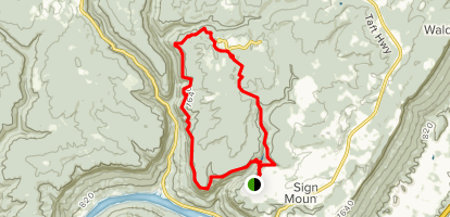 Signal Point, Yellow, Prentice Cooper Orange and Bee Branch Trail Loop Map