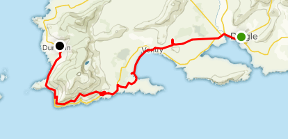 Dingle Way: Dingle to Dunquin Map
