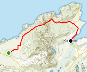 Dingle Way: Feohanagh to Cloghane Mt. Brandon Pass Map