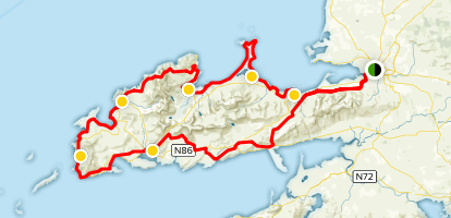 Map Of Ireland Showing Dingle.Dingle Way Full Trail County Kerry Ireland Alltrails