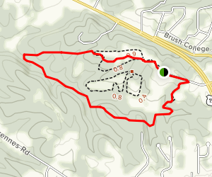 Mount Saint Francis Loop Trail Map
