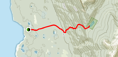 Canty Lake Trail (Closed) Map