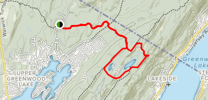 Surprise Lake Loop from Longhouse Drive Map
