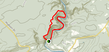 Glen Onoko Falls to D&L Trail Loop Map