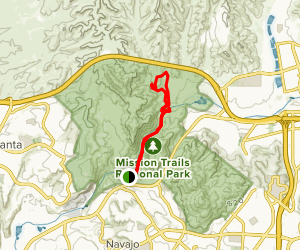 Junipero Serra and Oak Canyon Trail  Map