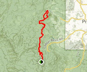 Aspen Creek to Thumb Butte Map