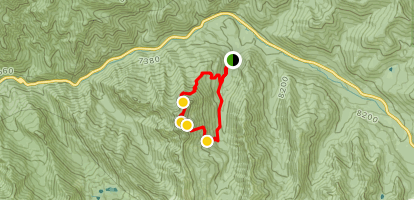 Kessler Peak Loop Map