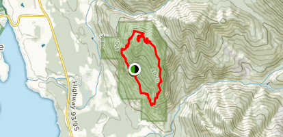 Mount Swansea Double Peak Loop Map