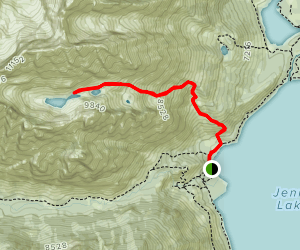 Lake of the Crags Trail  Map
