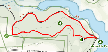 Mazarick Park Loop Map