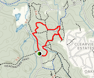 Restoration, Headwater, and Lookout Loop Map