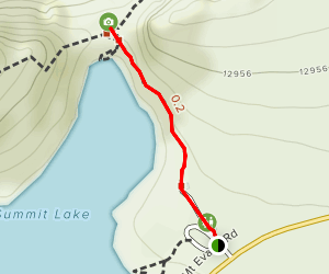 Chicago Lakes Lookout from Summit Lake Map