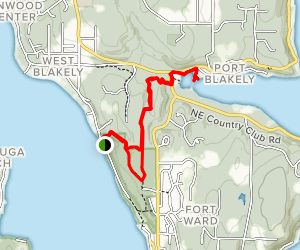 Fort Ward Hill Trail Loop to Blakely Harbor Map