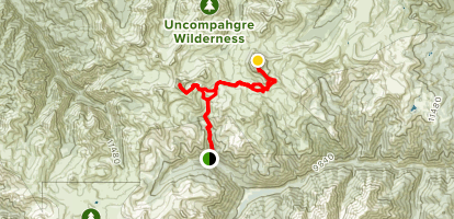 Wetterhorn Peak and Uncompaghre Peak Map