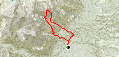 Jones Peak Loop Map