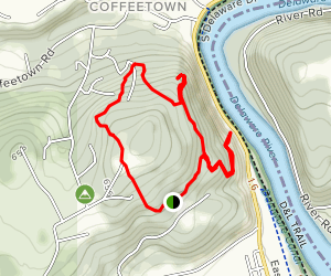 Main, River Lookout, Chimney Rock, North Fox, Pine Circle, and Turnpike Trails Loop Map