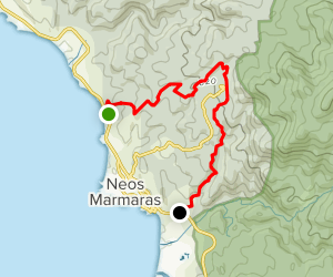 Neos Marmaras - Parthenonas Map
