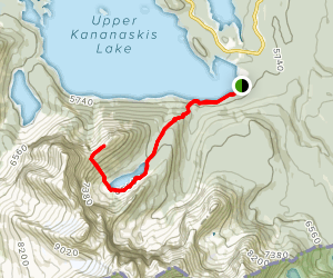 Sarrail Ridge via Rawson Lake Trail Map