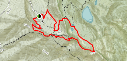 Mount Aeneas and Picnic Lakes via #717 and #392 Trails Map