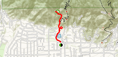 Bailey Canyon Nature Trail Map