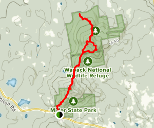 Wapack and Cliff Loop Map