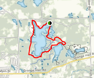 Seven Lakes and Green Trail Loop Map