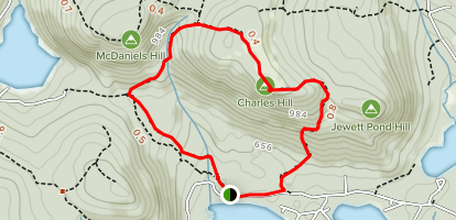 Mountain, Orange, and Ron's Loop Map
