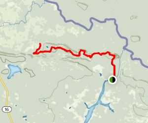 Border Route Trail to Portage Camp Map