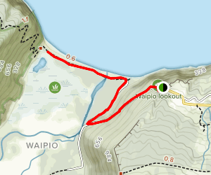 Waipio Valley Trail [PRIVATE PROPERTY] Map