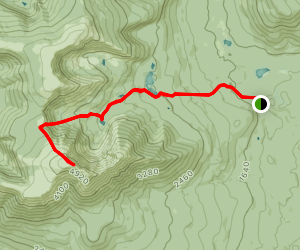 Baxter Peak via Saddle Trail Map