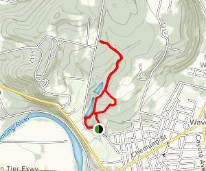 Two Rivers Yellow, Red, and Green Trail via Waverly Park Map