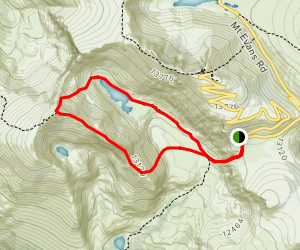 Mount Bierstadt East Ridge, Abyss Lake and Abyss Trail Loop Map