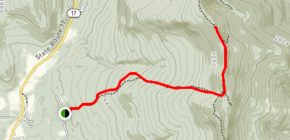 Jerusalem Trail to Stark's Nest at Mount Stark Summit Map