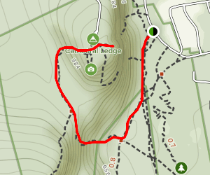 Cathedral Ledge via Bryce Path Trail Map